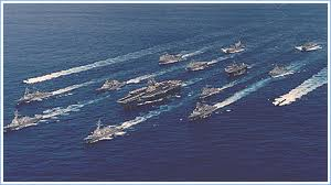 Image of a naval fleet