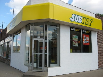A picture of a Subway Sandwich Shop